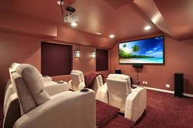home theater lighting design. Transitional Home Theater Lighting Design