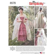 Simplicity Pattern Enchanting Simplicity Pattern 48 Misses' 48th Century Gown