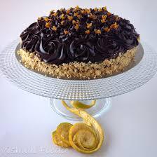 Decorated German Chocolate Cake Eggless Chocolate Cake With Candied Orange Peel