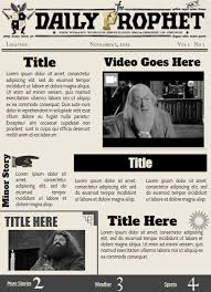 Harry Potter Newspaper Template Templates