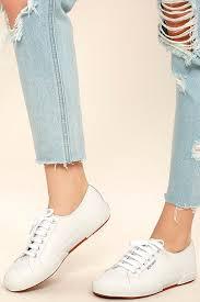 superga 2750 fglu white leather sneakers