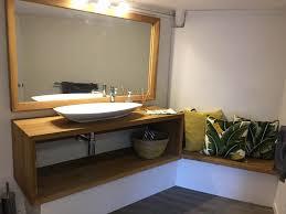 single bowl timber vanity