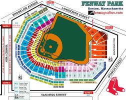 Explicit Fenway Park Seating Chart Bleachers Rows Fenway