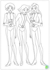 4_39 totally spies coloring pages to download and print for free on totally spies coloring pages