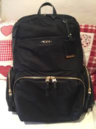 tumi calais leather backpack