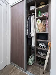entry with melamine modular closet
