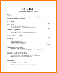 Plain Text Resume Format Template Templates Cooperative Screnshoots