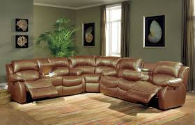 brown leather reclining sectional steal a sofa furniture