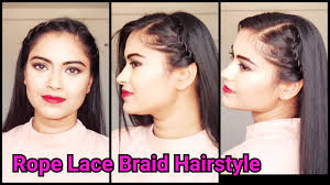 Hair Style For Medium Length everyday easy indian hairstylesrope lace braid hairstyle for 4561 by wearticles.com