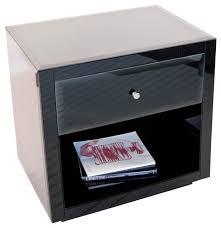 best black glass nightstand worlds away one drawer nightstand farrah modern nightstands