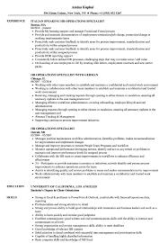 Hr Operations Specialist Resume Samples Velvet Jobs
