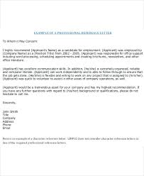 Professional Reference Letter Template How To Format References