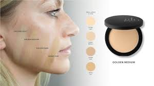 Glo Minerals Colour Chart Pressed Base Foundation Shade Matching