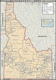 Beautiful State Idaho Map Lake Of County And Maps Directions