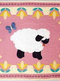 Applique Quilt Patterns - Applique Baby Quilt Patterns - Sweet ... & Applique Quilt Patterns - Applique Baby Quilt Patterns - Sweet Lambs for  Baby -- Free Quilting Pattern -- Baby Blanket Adamdwight.com