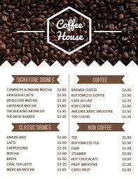 Cafe Menu Template Coffee Shop Menu Template Click To Customize Coffee Shop
