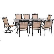 2 sling swivel rockers 6 sling chairs