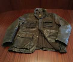 rare belstaff made in italy gold label distressed leather jacket brown men s m l belstaff motorcycle authentic