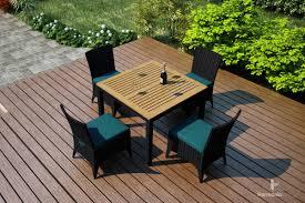 arbor dining set 5 piece harmonia living patio furniture outdoor modern design teak wicker aluminum affordable