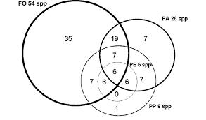 Venn Diagram Of Vascular And Nonvascular Plants Venn Diagram Of Vascular Epiphytes Per Habitat And Number Of
