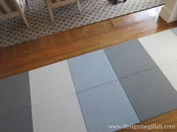 Carpet Tiles For Kitchen Design Megillah Creating A Runner With Flor Carpet Tiles