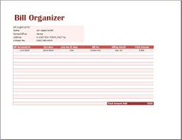 bill organizer template bill organizer template excel monthly bill planner excel excel