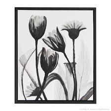 black white flower oil painting on canvas modern tulipa gesneriana wall art for home decor hand on black and white tulip wall art with black white flower oil painting on canvas modern tulipa gesneriana