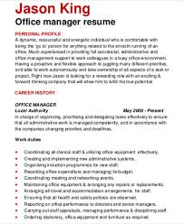 Office Manager Resume Sample Extraordinary 60 Manager Resumes In PDF Free Premium Templates