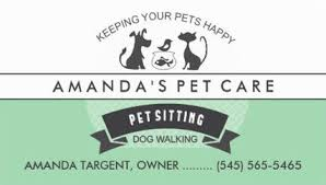 Pet Sitter Business Cards Girly Pet Sitting And Pet Care Business Cards Girly Business Cards