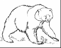 Small Picture Amazing grizzly bear coloring pages with bear coloring page