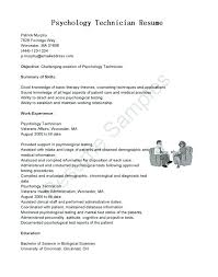 Counseling Psychologist Sample Resume Psychology Resume Sample 41