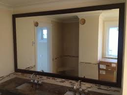 interior wood framed bathroom mirrors brilliant diy reclaimed frames woods rustic and within 3 from