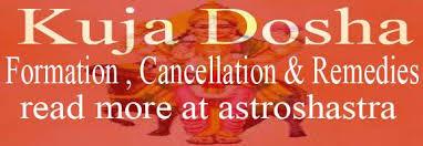 Kuja Dosha Manglik Mangal Dosha In Horoscope Explained In