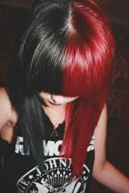 Black Red Hair Harley Quinn Hair