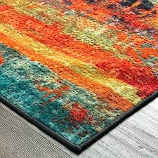 blue and orange area rugs rug target world menagerie reviews green