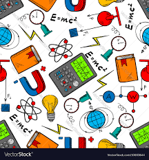 Science Physics Physics Science Seamless Pattern Background
