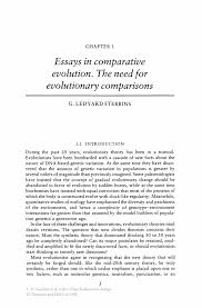 essays in comparative evolution the need for evolutionary inside