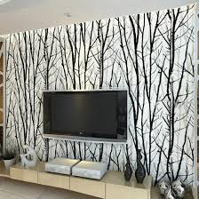 Textured Tree Forest Woods Wallpaper PVC Wall paper Roll For TV Background  Wall Home Decor Wall