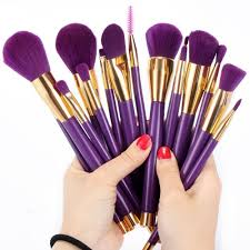 this neverland brush set that looks like it came straight from a dream and has rubber paint handles to make it easier to contour your face to the s