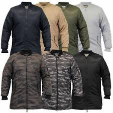 Details About Mens Ma1 Jacket Soul Star Harrington Mac Trench Coat Padded Army Military Winter