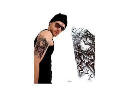 Voděodolné Dočasné Tetování Motiv Hodiny