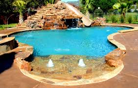 inground pools with waterfalls and hot tubs. Furniture : Lovable Waterfalls Backyard Pool Slides For Inground Pools With And Hot Tubs L