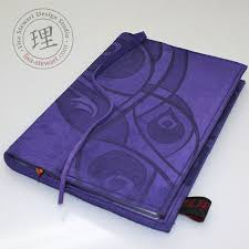leather journal cover refillable purple by lisastewarthandbags