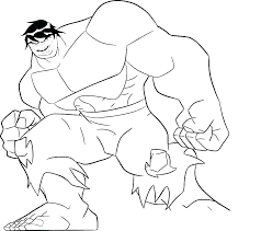 Hulk Color Page Klubfogyas
