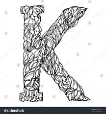 herbarium font type herbal vector letters letter k can be used as