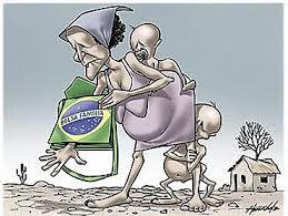 Resultado de imagem para charge de mulher efilhos do bolsa familia [ pobre indo votar