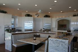 kitchen island and dining table