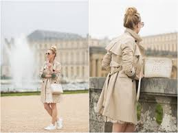 ann taylor classic khaki trench coat trench coat with lace pencil skirt trench coat and sneakers outfit what to wear in paris