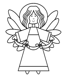 Small Picture Angel Coloring Page Christmas Season Nuttin But Preschool