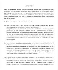 annotated bibliography sample example format  word annotated bibliography templates